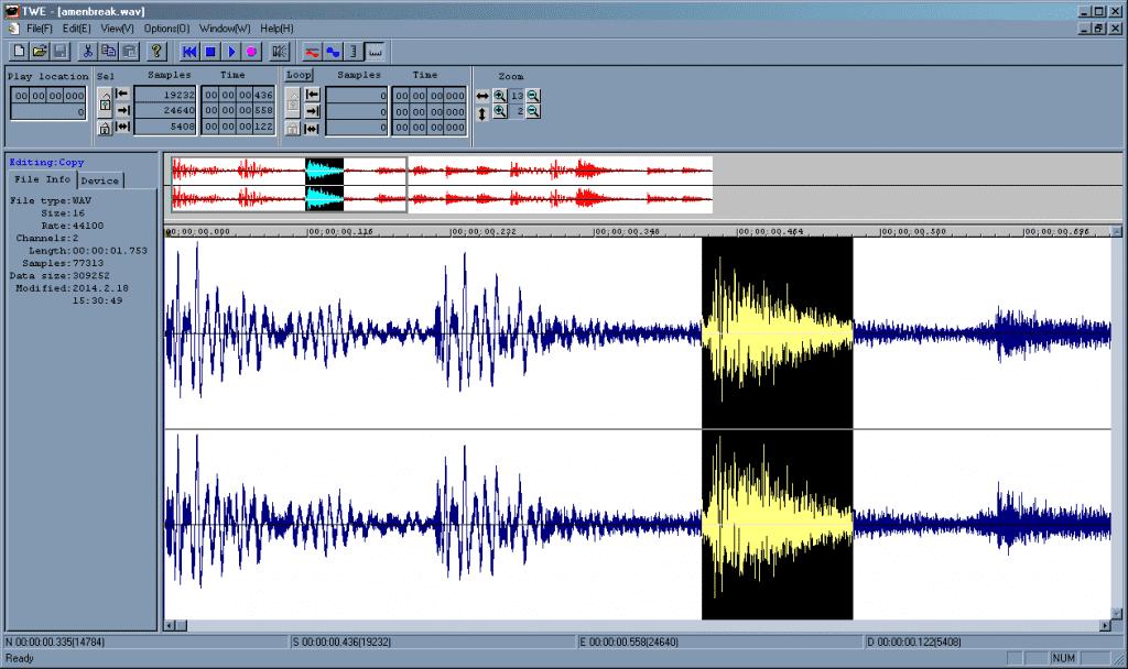 Tiny Wave Editor