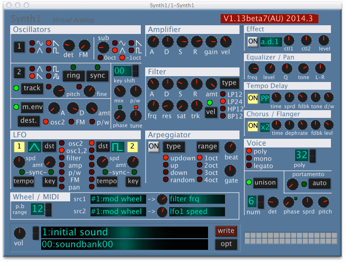 Synth1 AU for Mac !!
