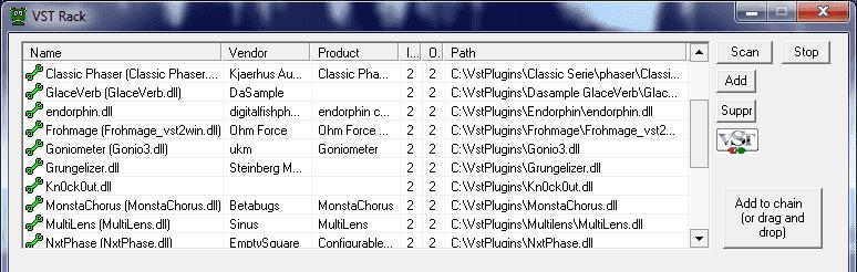VST-rack-list