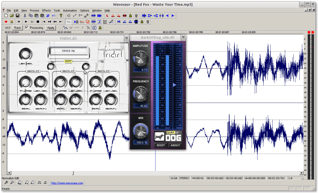 Wavosaur with VST Effect !! Linux !