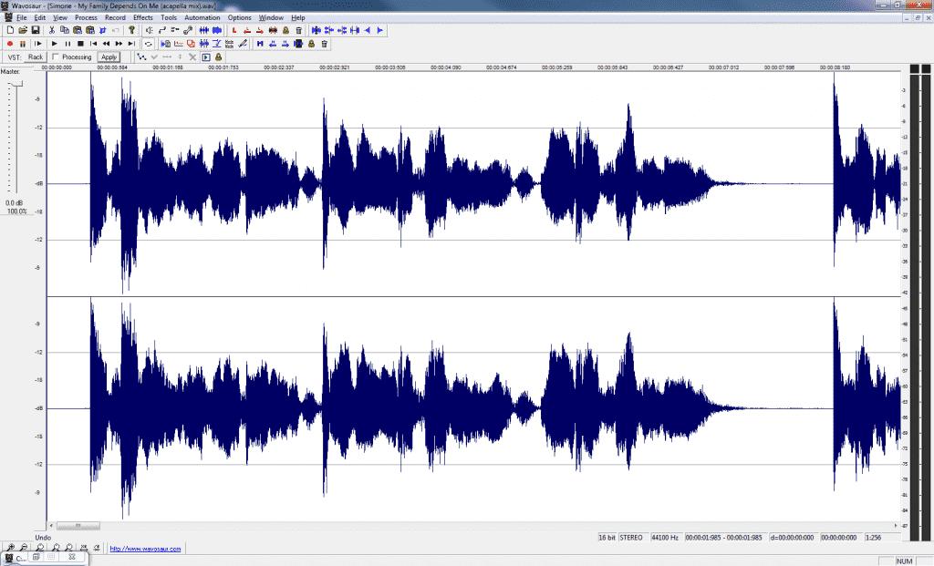 Vocal sample in Wavosaur