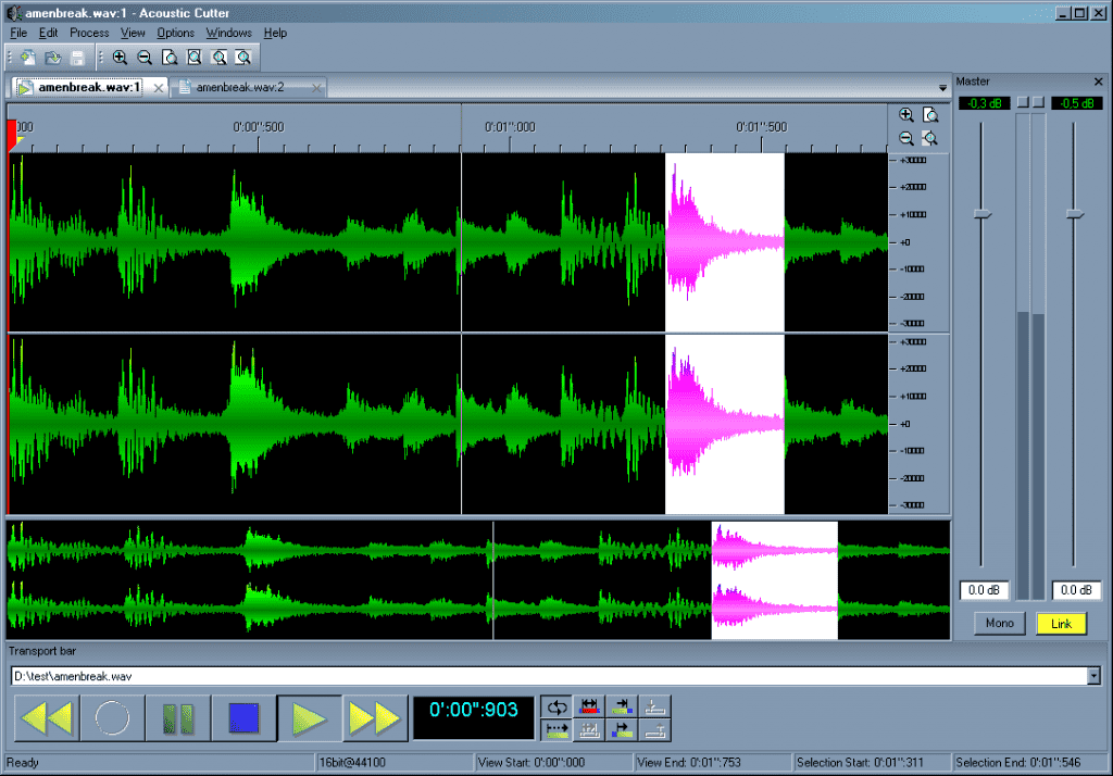 Acoustic Cutter audio editor