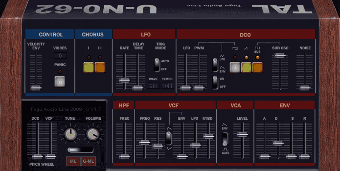 6 free VST emulation of Roland Juno 60 Juno 160 & Juno 6