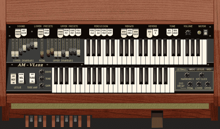 VL122 drawbar organ VST