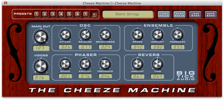 Cheeze Machine string synth