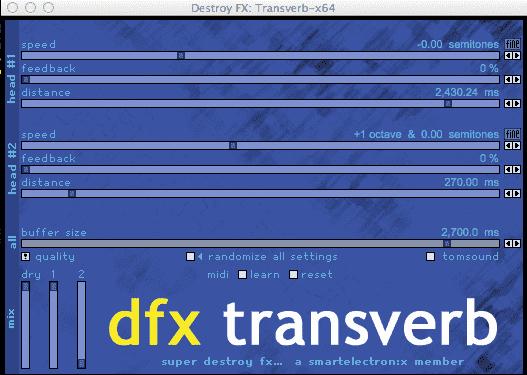 DFX TRansverb 64 bit 4 Mac OS X
